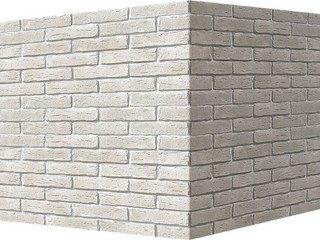 "375-05 White Hills ""Сити Брик"" (Сity brick), белый, угловой, Нормативная ширина шва 1,2 см."