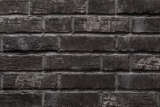 Клинкерная плитка фасадная- 376platinschwarz Stroeher Рядовая 71x240 толщина 14