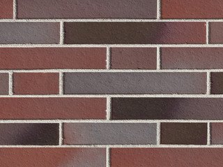 Клинкерная плитка фасадная ABC Klinker Blankenesse dunkelbunt Langformat