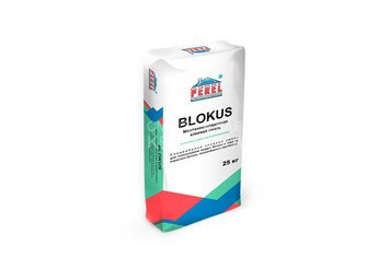 Клеевая смесь для газоблоков PEREL Blokus 0332 белая, 25 кг 1