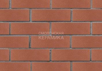 Кирпич лицевой керамический ЛСР Темно-красный гладкий, 1НФ 2