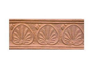 Клинкерная плитка фасадная--- Элемент декоративный Родос Макси Терракот Рядовая 123x263 толщина