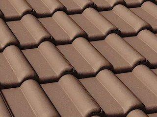 Цементно-песчаная черепица рядовая BRAAS Франкфуртская, тёмно-коричневый