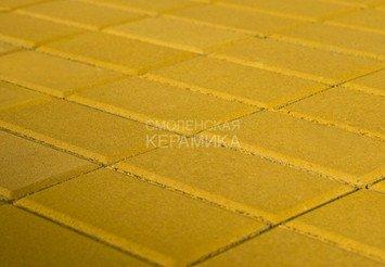 Тротуарная плитка BRAER Прямоугольник Жёлтый, 40 мм 1