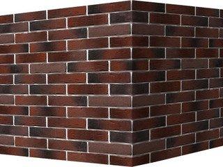 "376-45 White Hills ""Сити Брик"" (Сity brick), темно-коричневый, угловой, Нормативная ширина шва 1,2 с"