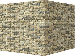 "315-15 White Hills ""Брюгге брик"" (Brugge brick), бежевый, угловой, Нормативная ширина шва 1,2 см."