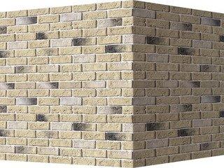 "320-15 White Hills ""Кельн брик"" (Cologne brick), бежевый, угловой, Нормативная ширина шва 1,2 см."