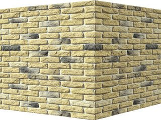 "315-35 White Hills ""Брюгге брик"" (Brugge brick), желтый, угловой, Нормативная ширина шва 1,2 см."