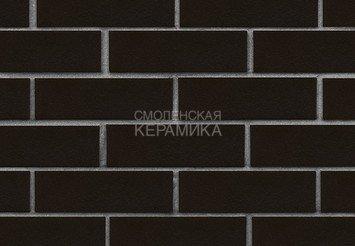 Клинкер фасадный ЛСР «Рейкьявик» черный гладкий глянцевый 1