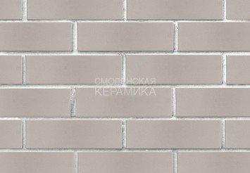 Кирпич лицевой керамический ЛСР Светло-серый гладкий, 1НФ 3