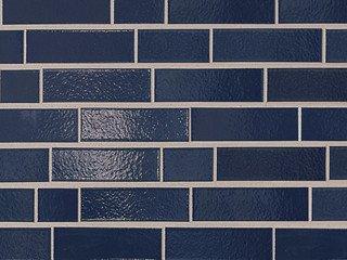 Клинкерная плитка фасадная ABC Klinker Glanzriemhen Dunkelblau 350