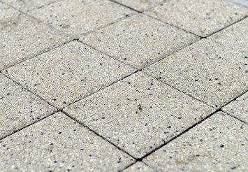 Тротуарная плитка BRAER Лувр, Гранит белый 1