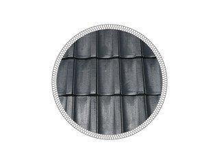 Керамическая черепица рядовая MLADOST KONTINENTAL LUX black