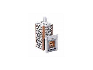 Печь банная Ермак 24-Сетка-Премиум (с панорамным стеклом) (сталь 8мм)
