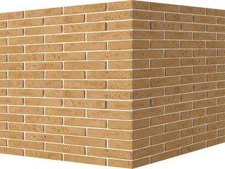 "352-15 White Hills ""Терамо брик"" (Teramo brick), бежевый, угловой, Нормативная ширина шва 1,2 см."