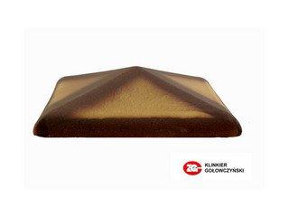 Колпак для забора ZG Clinker клинкерный керамический 425х425 желтый тушевой