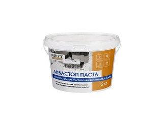 Гидроизоляция готовая эластичная Аквастоп Паста, 5 кг
