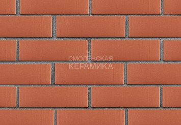 Клинкер фасадный ЛСР «Лондон» красный гладкий 2