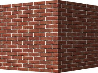 "301-75 White Hills ""Лондон брик"" (London brick), красно-коричневый, угловой, Нормативная ширина шва"