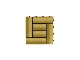 Садовый паркет CM Decking 30*30мм, серия CLASSIC (широкие полоски) желтый