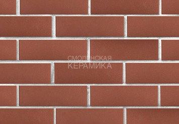 Клинкер фасадный ЛСР «Эдинбург» темно-красный гладкий 4
