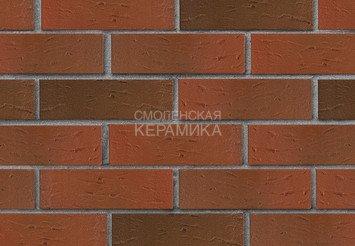 Кирпич лицевой керамический ЛСР Красный флэш рустик, 1НФ 1