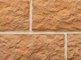 Рваный камень Макси разноцвет прямая Терракот