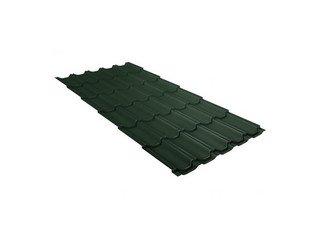 Металлочерепица Grand Line Kvinta plus 3D Quarzit темно-зеленый