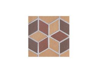Вставка мозаичная из клинкера (на сетке) Flower/Цветок Ecoclinker