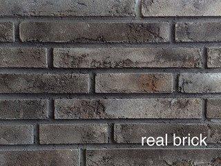 REAL BRICK. Ригельный кирпич RB 1-07 Пепел Плитка: 300*40*15 0,7(45шт)