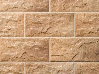 Клинкерная плитка фасадная KS 14 braun-bunt Stroeher Рядовая 71x221+148 толщина 12