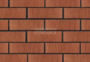 Кирпич лицевой керамический ЛСР Темно-красный тростник, 1НФ 3