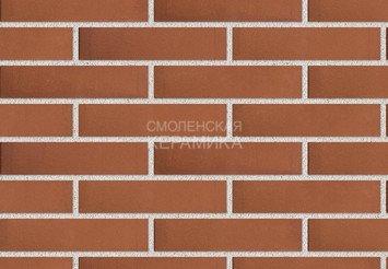 Кирпич лицевой керамический ЛСР Темно-красный гладкий, 1НФ 1