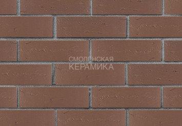 Кирпич лицевой керамический ЛСР Темно-коричневый рустик, 1НФ 1