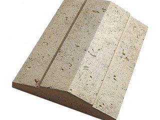 """936-40 Накрывочная плита двухскатная """"Тиволи"""", 32*50, коричневый"""