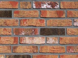 Клинкерная плитка Moorbrand торфяной пестрый (torf-bunt) Röben Угловая 71x240+115 толщина 14