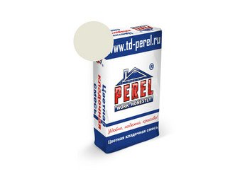 Цветная кладочная смесь Perel NL 0105 белая, 25 кг 1