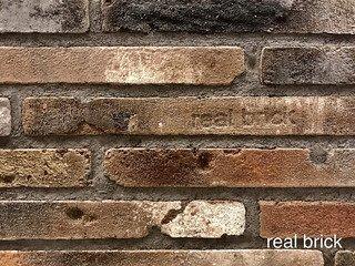 REAL BRICK. Кирпич ручной формовки RB КР/0,5ПФ РИГЕЛЬ antic RB 05 antic глина античная коричневая