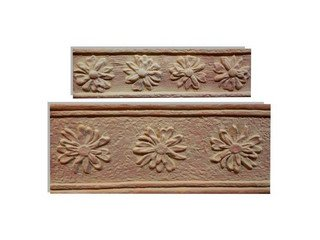 Клинкерная плитка фасадная--- Элемент декоративный Гербера Макси Терракот Рядовая 123x263 толщина