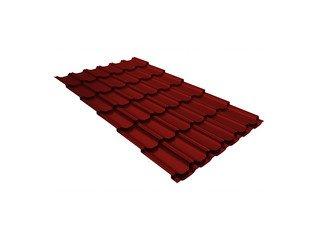Металлочерепица Grand Line Kamea ПЭ коричнево-красный