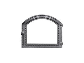 Дверца каминная Везувий 217, (414х495) 337х405 со стеклом (Антрацит)