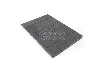 Тротуарная плитка BRAER Мозаика, Серый 1