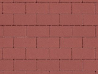 Тротуарная плитка ARTSTEIN Прямоугольник Лайн красный, 60 мм