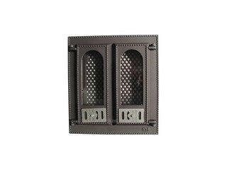 Дверца каминная со стеклом 409, SVT, (400х365) 310х275, 2-х створчатая, (фин)