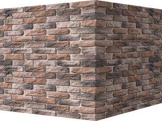 "316-75 White Hills ""Брюгге брик"" (Brugge brick), ярко-красный, угловой, Нормативная ширина шва 1,2 с"