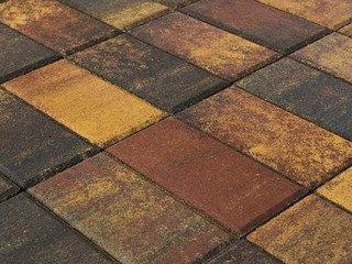 Тротуарная плитка BRAER Прямоугольник Color Mix Мальва, 60 мм