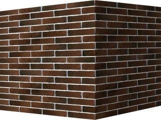 "379-45 White Hills ""Сити Брик"" (Сity brick), коричнево-серый, угловой, Нормативная ширина шва 1,2 см"
