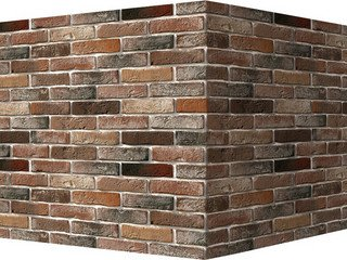"303-95 White Hills ""Лондон брик"" (London brick), коричневый, угловой, Нормативная ширина шва 1,2 см."