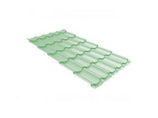 Металлочерепица Grand Line Kvinta Uno ПЭ бело-зеленый