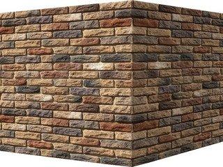 "319-45 White Hills ""Брюгге брик"" (Brugge brick), коричневый, угловой, Нормативная ширина шва 1,2 см."